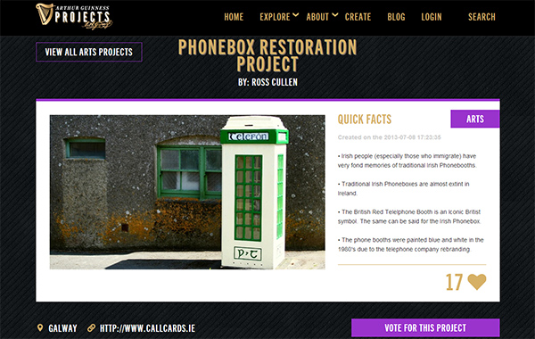 Arthur Guinness Fun Phonebox Restoration Project