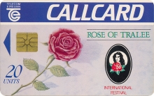 Rose of Tralee 1992 Callcard (front)