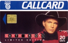 Garth Brooks Callcard (front)