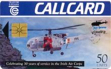 Irish Air Corps Alouette III Callcard (front)