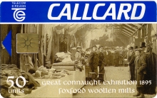 The Great Connaught Exhibition 1895 at Foxford Woollen Mills Callcard (front)