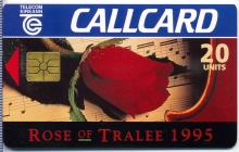 Rose of Tralee 1995 Callcard (front)