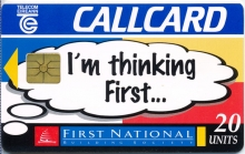 First National Building Society Callcard (front)
