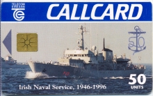 Irish Naval Service (Irish Navy) Callcard (front)