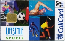 Lifestyle Sports 1997 Callcard (front)