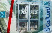 New Public Payphone Kiosk Callcard (front)