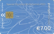 Special Olympics World Games 2003 €7 Euro Callcard (front)