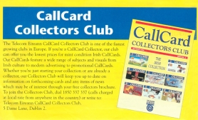 Callcard Collectors Club Extract Telecom Eireann Phonebook