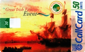 The Great Irish Famine Event Callcard
