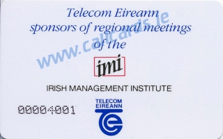 IMI Conference 1989 50u Callcard (back)
