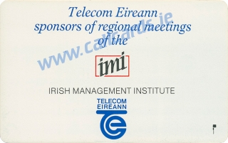 IMI Conference 1990 50u Callcard (back)