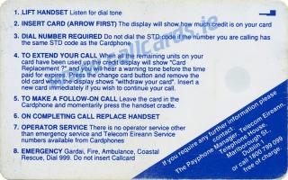 Trinity College Callcard (back)