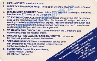 Rose of Tralee 1992 Callcard (back)
