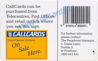 Royal Hospital Kilmainham Stamp & Coin Collectors Fair Callcard (back)