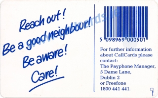 EC Year of the Elderly - Reach Out Callcard (back)