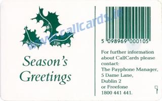Christmas 1993 Callcard (back)