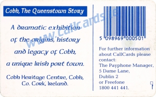 Cobh Heritage Centre Callcard (back)