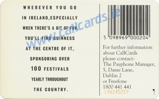 Guinness Sponsored Summer Events Callcard (back)