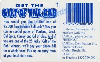 Proctor & Gamble Callcard (back)