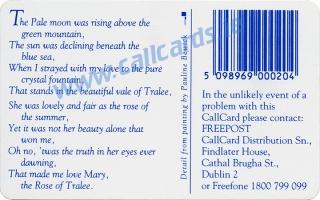Rose of Tralee 1994 Callcard (back)