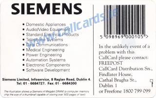 Siemens Callcard (back)