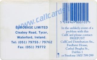 Eurobase Callcard (back)