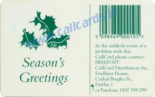 Christmas 1994 Callcard (back)
