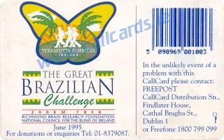 Brazilian Challenge Callcard (back)