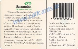 Barnardos Callcard (back)