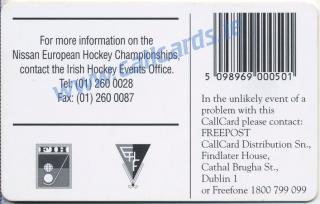 European Hockey 1995 Callcard (back)