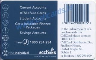 ACC Bank Callcard (back)