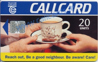 Reach Out Campaign 1995 Callcard (front)