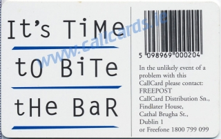 Time Out Bar Callcard (back)