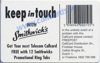 Smithwicks Callcard (back)