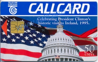 President Clinton Visit Callcard (front)