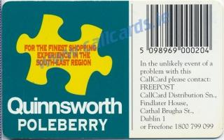 Quinnsworth Poleberry Callcard (back)