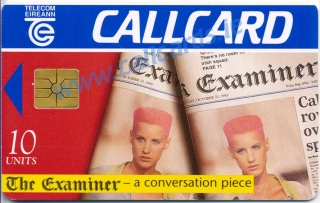 The Examiner 1996 Callcard (front)