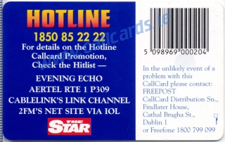 2FM Hotline Callcard (back)