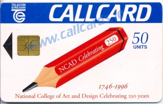 N.C.A.D Pencil (NCAD - National College of Art and Design) Callcard (front)