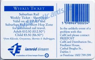 D.A.R.T. (DART) Callcard (back)