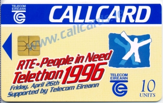 Telethon 1996 Callcard (front)