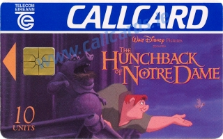 Disney's  The Hunchback of Notre Dame Callcard (front)