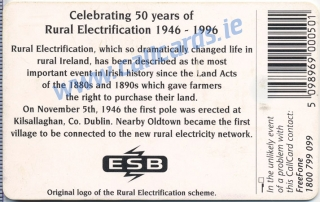 ESB (E.S.B.) Callcard (back)