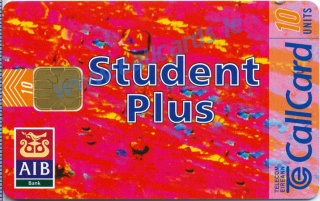 AIB Student Plus 1996 Callcard (front)