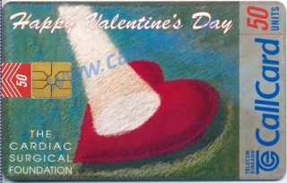 St Valentines Day 1997 Callcard (front)