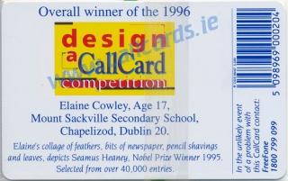 Design a Callcard 1996 Callcard (back)