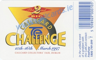 Callcard Collectors Fair 1997 - Molly Malone Callcard (back)