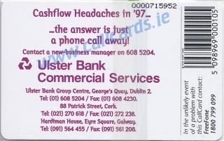 Ulster Bank Callcard (back)