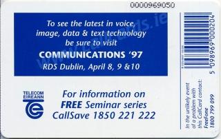 Communications 1997 Callcard (back)