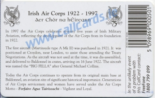 Irish Air Corps Callcard (back)